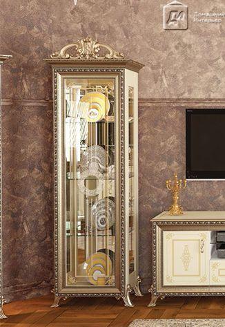 витрина для гостиной стеклянная для посуды угловая купить недорого